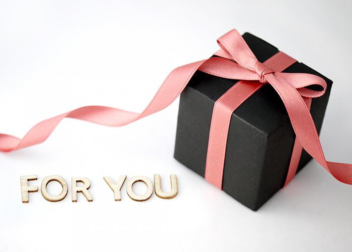 リボンがあしらわれたプレゼントボックス